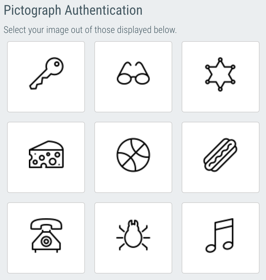 Pictograph Authentication
